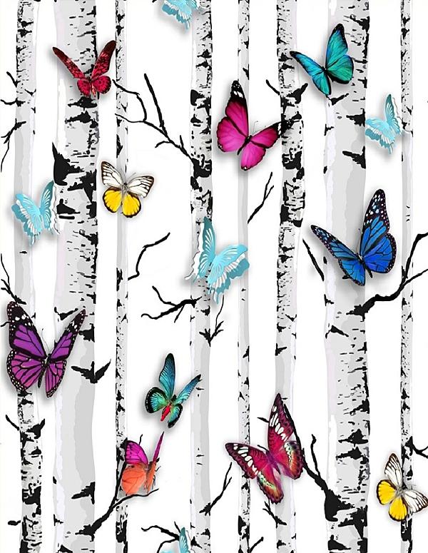 dutch-behang-102529-berk-met-gekleurde-vlinder