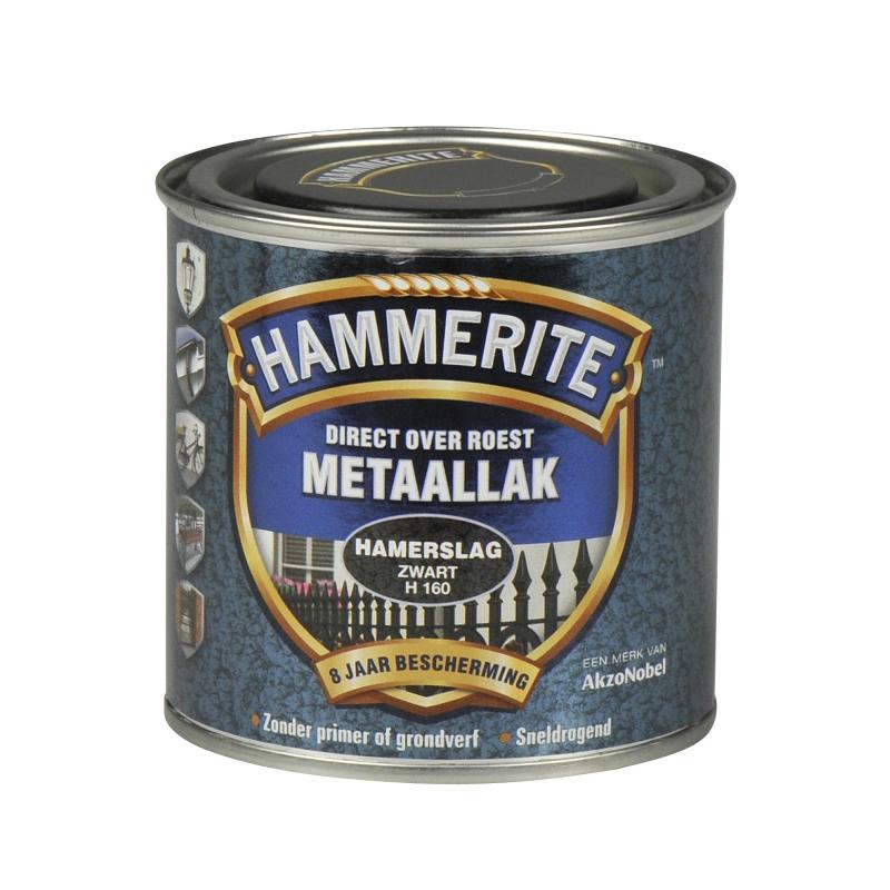 Hammerite Hamerslag 250 ml H160 zwart 250ml | www ...