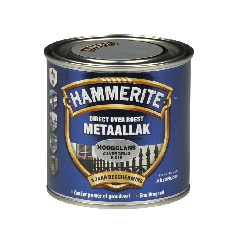 Hammerite Hoogglans 250 ml s015 zilvergrijs 250ml | www ...